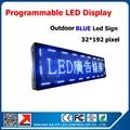 P10 76 '' * 16 '' голубой цвет из светодиодов программируемый из светодиодов табло на открытом воздухе водонепроницаемый бегущий текст из светодиодов дисплей