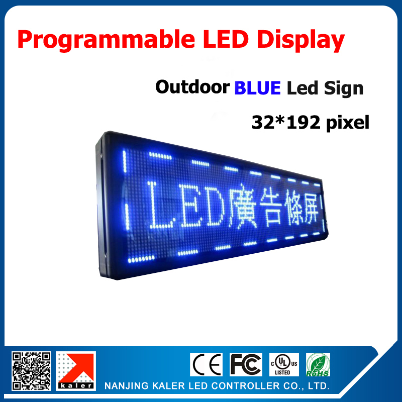 p10 76''*16'' blue color led display programmable led display board outdoor waterproof running text led display