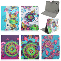 For Samsung Galaxy Tab 3 Lite 7.0 SM-T110 T111 Conch print PU Leather Cover Case Universal Tablet cases 7.0 inch S4A92D