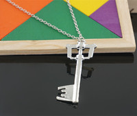 Anime Series Kingdom Hearts Key Blade Metal Necklace Game Jewelry Accessories Figure Cosplay Toy Gift Men Women