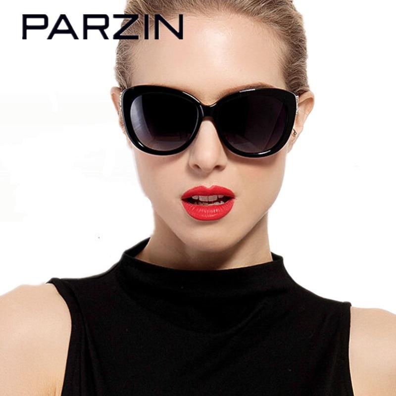 PARZIN Vintage Cat Eye Sunglasses Women Polarized Female Sun Glasses Handmade Acetate Frame Luxury Ladies Shades With Case 9612