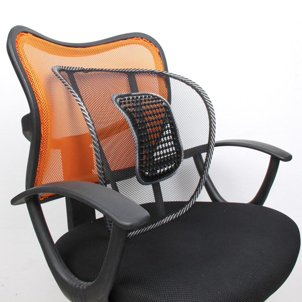 Mesh Net Lumbar Back Brace Support Cojin Home Car Seat