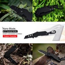 цена на 2018 B-2 Bomber Nano Blade Utility Multi Pocket Knife Mini Key Chain Tactical EDC Survival Camping Outdoor Knife Tools Repair