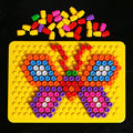 wisdom magic insert plate with 180pcs Magic beads combination of inserting plate disc wisdom building blocks toys