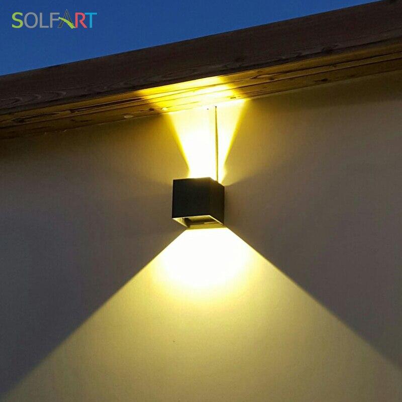 Solfart moderne led sconce væglamper sort skygge væg lys træ - Indendørs belysning - Foto 6
