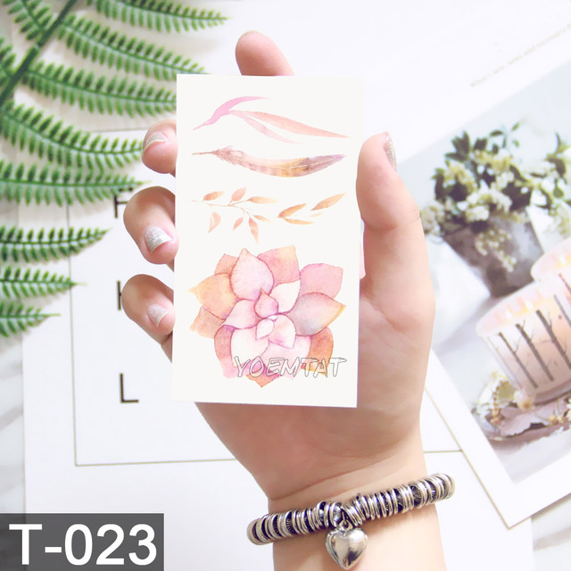 10.5x6cm Flowers rose lotus Design Fashion Temporary Tattoo Stickers Temporary Body Art Waterproof Tattoo Pattern Wholesales 4