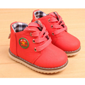 2016 New Fashion Chaussure Enfant Children Martin Boots Girls Boys Spring Shoes Kids Rain Boots Pu Leather Kids Sneakers