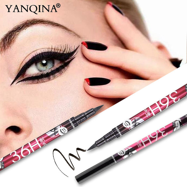 YANQINA 36H Black Waterproof Liquid Eyeliner Make Up Beauty Comestics Long-lasting Eye Liner Pencil Makeup Tools for eyeshadow 4