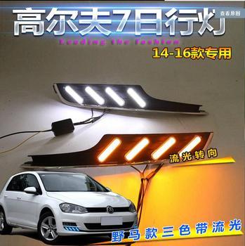 Car bumer headlight for Golf 7 golf7 daytime running daytime light 2014~2016 car accessories LED DRL Fog for Golf7 day light