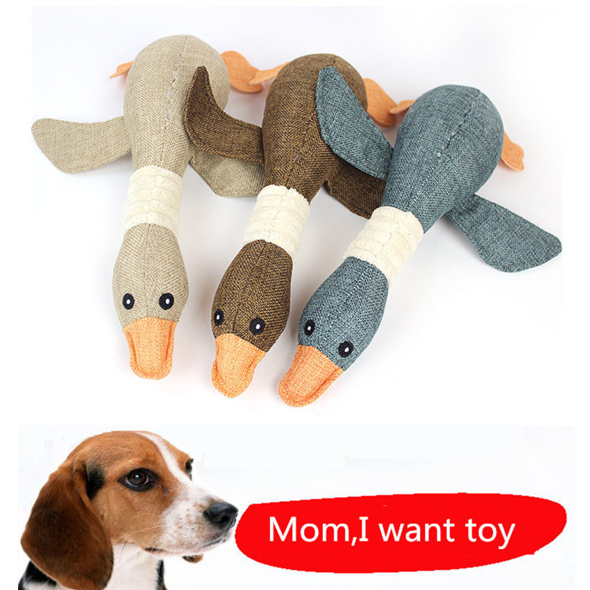 Super Kawaii Hot Pet Dayan Sound Toys Stuffed & Plush Anime Duck Christmas Toys Gift for Pet Dog Cats Chew Can Make Sounds