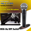 Top Quality Karaoke Cardioid Dynamic Vocal Wired Microphone Mike For SM58LC SM58S SM 58 SM 58S 58LC Microfone With On/Off Switch