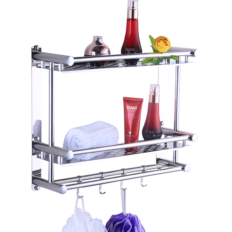 Bathroom Towel Rack 304 Stainless Steel Three-Layer Toilet Rack Wall Hanging Bathroom Hardware Accessories