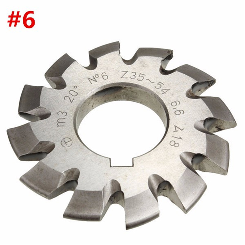 Diameter 22mm M3 20 Degree #6 Involute Gear Cutters HSS High Speed Steel Module HOT Machine Tools Accessories wsfs hot sale 4 cut high speed steel teeth toothed corn cutter diameter 6 mm 6 mm length 6 cm