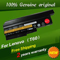 9 células 7800 mah bateria do laptop original para ibm lenovo r60 r60e r61 R61e R61i T60 T60p T61 T61p R500 T500 W500 SL300 SL400 SL500