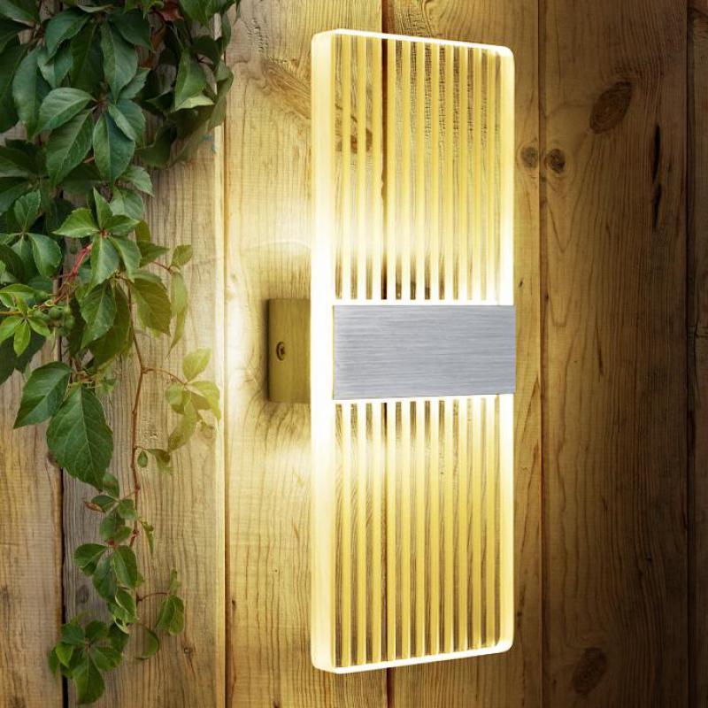 Novelty Led wall sconce Arandela wall Mirror light Acrylic Zebra stripes wall Lamp Bedroom Corridor Balcony indoor lighting