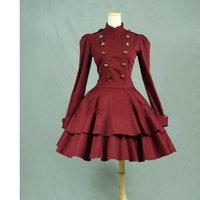 Gothic Lolita Dress Short skirt Dress Cosplay Victorian dress long sleeves maid's uniform V 922