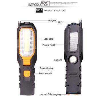 ZK20 دروبشيبينغ البوليفيين الصمام Worklight USB قابلة للشحن العمل مرنة مصباح المغناطيسي مضيا الطوارئ ضوء الشعلة الفانوس 1