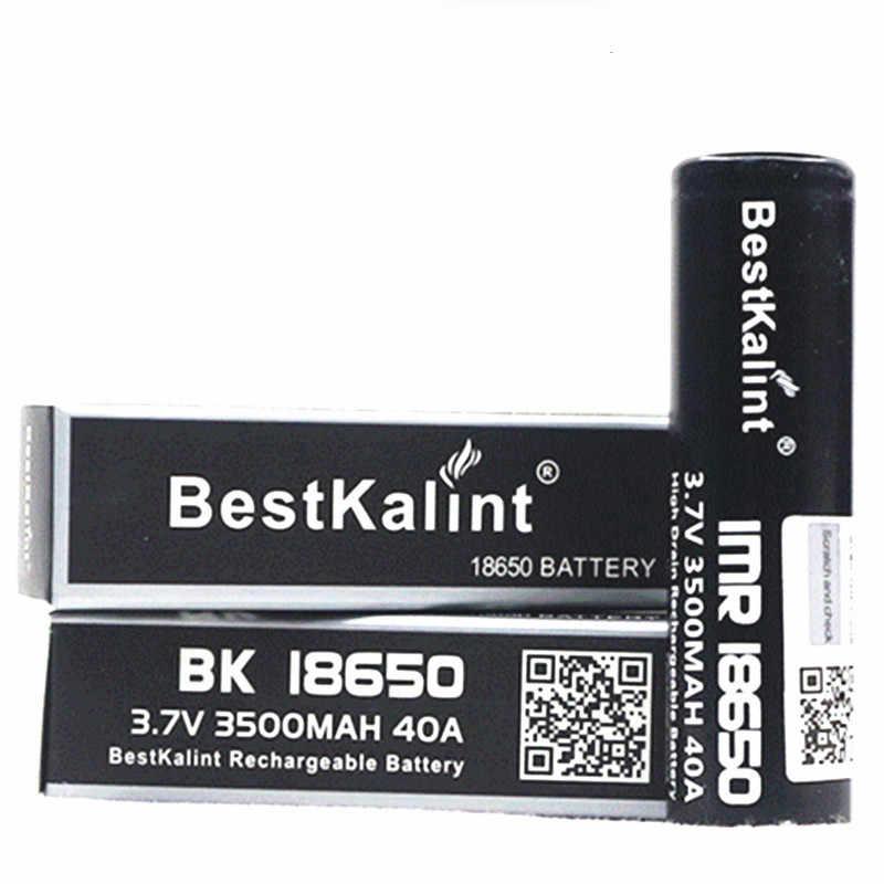 NEW Bestkalint IMR 18650 pin 3500 mAh 40A 3.7 v Có Thể Sạc Lại flat Top Pin thuốc lá điện tử pin