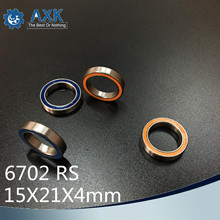 6702RS Bearing 10PCS 15x21x4 mm ABEC-3 Hobby Electric RC Car Truck 6702 RS 2RS Ball Bearings 6702-2RS Blue/Orange Sealed c free shipping 4pcs 15x24x5 blue rubber bearings abec 3 6802 2rs
