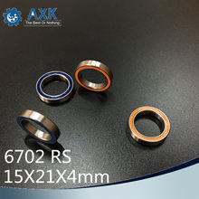 6702RS Bearing 10PCS 15x21x4 mm ABEC-3 Hobby Electric RC Car Truck 6702 RS 2RS Ball Bearings 6702-2RS Blue/Orange Sealed c(China)