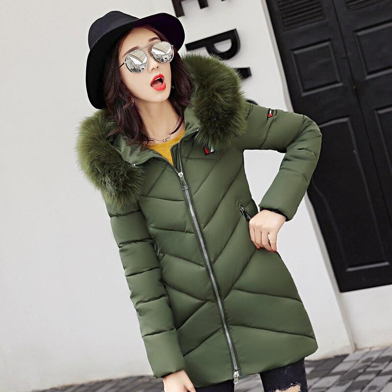 gris bleu Parka Green Hiver Femmes Feminino Fourrure Femme Casaco Long rouge Chaud Vêtements De army Qualité Noir rose Inverno Veste 2017 Manteau Ouatée Haute Col 6wqHxWR0
