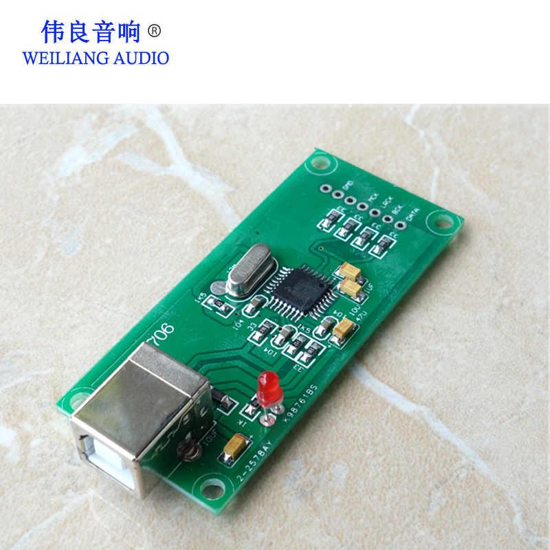 PCM2706 USB デジタルインタフェースサポート I2S DAC デコーダボード (1:1 Amanero usb カードサイズ)