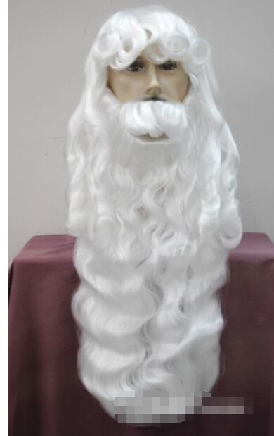 hot sell new > Express to USA Russia new Silver white Santa Claus beard set Fancy Dress Cosplay wig