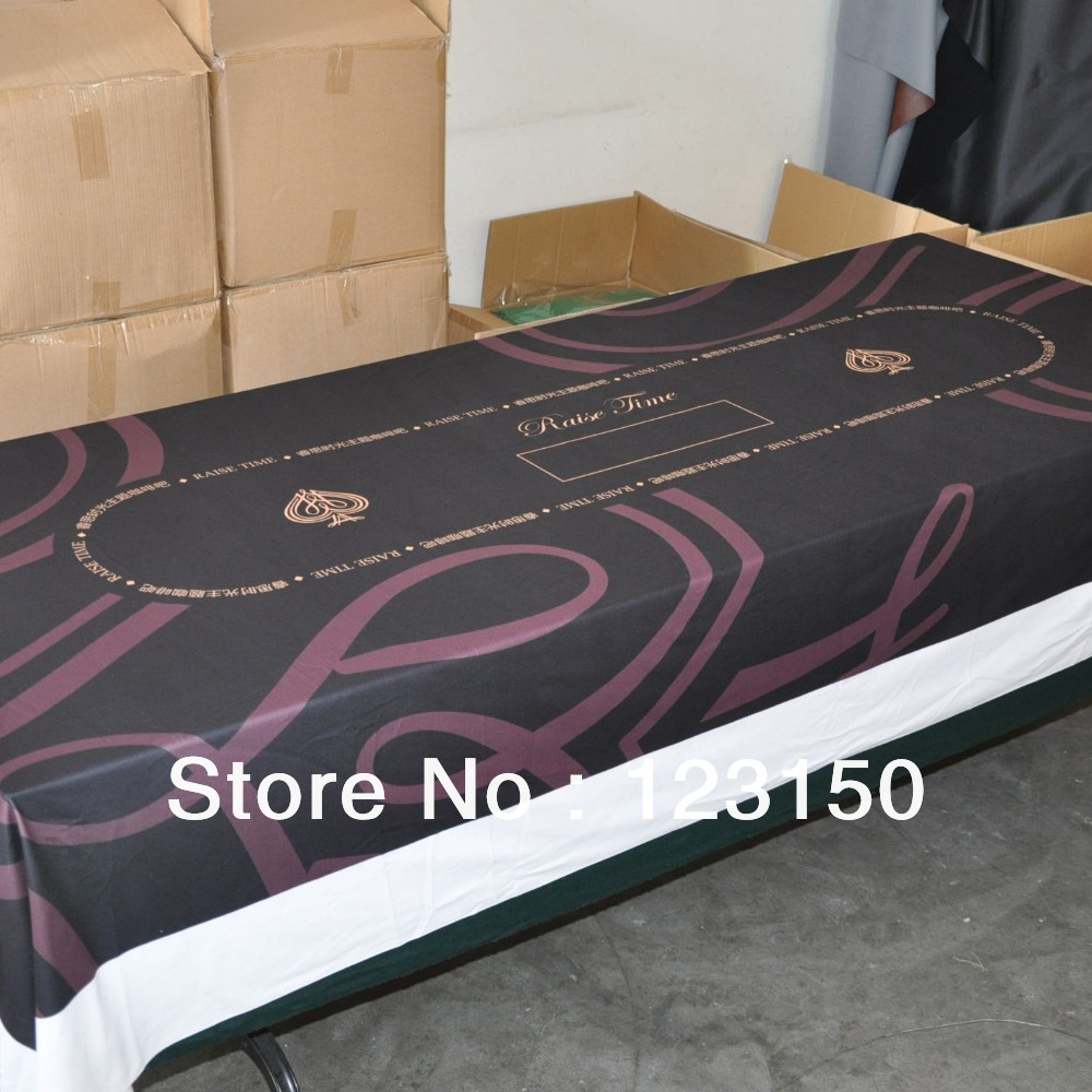 WP-017 Professional Water Resistant Poker Table Cloth, Custom your own poker table cloth cup striped print fabric table cloth