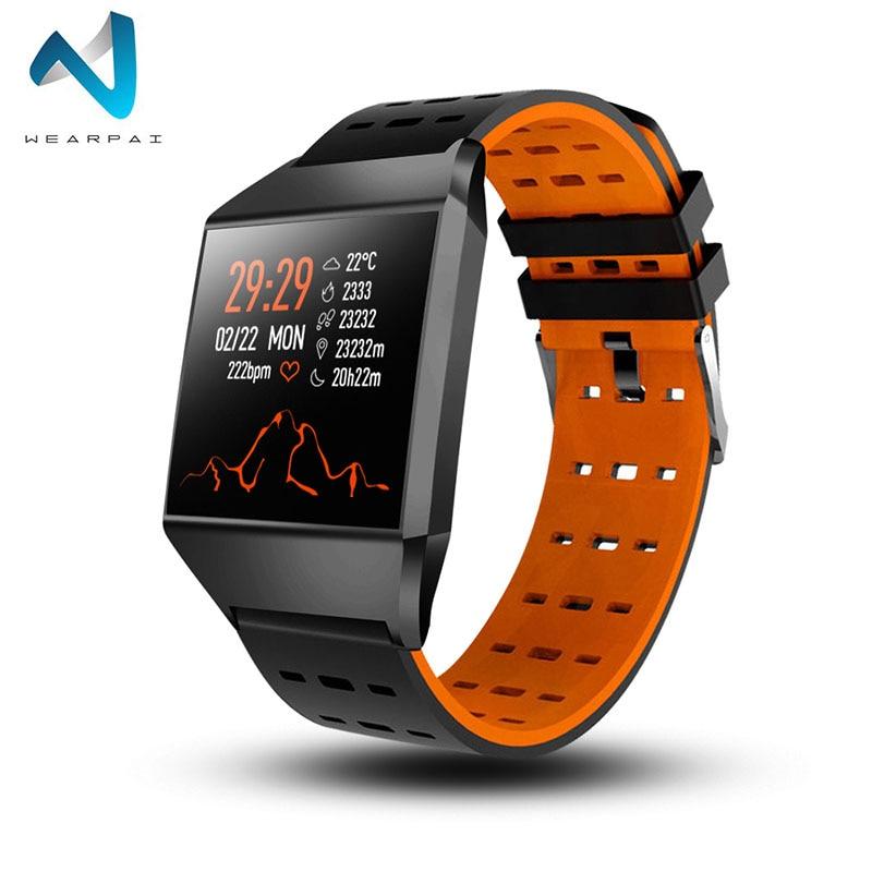 Wearpai W1C Smart Watch Waterproof Heart Rate Monitor Blood Pressure FitnessTracker Sleep Monitor Fitness Watch For IOS Android