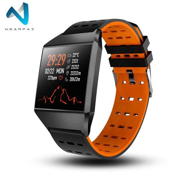 Wearpai W1C montre intelligente étanche moniteur de fréquence cardiaque tension artérielle FitnessTracker moniteur de sommeil Fitness montre pour IOS Android