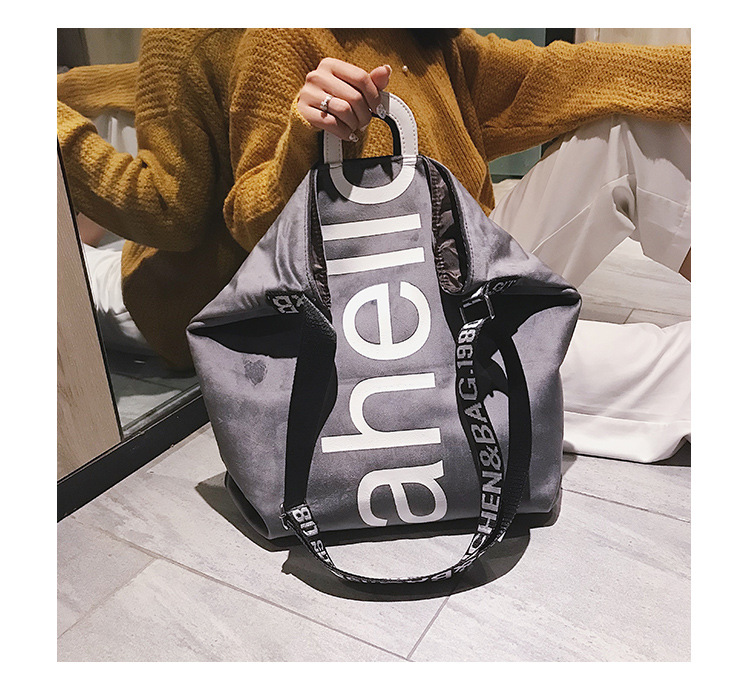 HTB1DHRPXsfrK1RkSmLyq6xGApXa6 - New Large-capacity Velvet Handbag Fashion Lady Letter Shoulder Crossbody Bag High Quality Women's Shopping Bag Tote