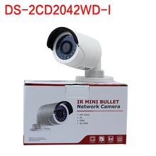 In stock free shipping with DHL shipping , english version  DS-2CD2042WD-I 4MP IR Bullet Network Camera Support H.264+