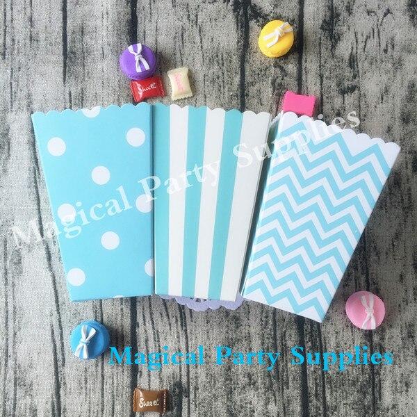 Aliexpress.com : Buy Baby Shower Decoration Blue Snack Box 36pcs PopCorn Boxes Boy's Birthday