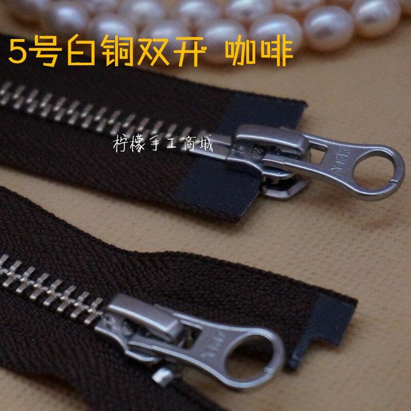 Coat Cardigan Down Clothing Arts,crafts & Sewing Zippers Ykk Zipper 5 Metal Copper-nickel Double-open Zipper 60-120cm Coffee