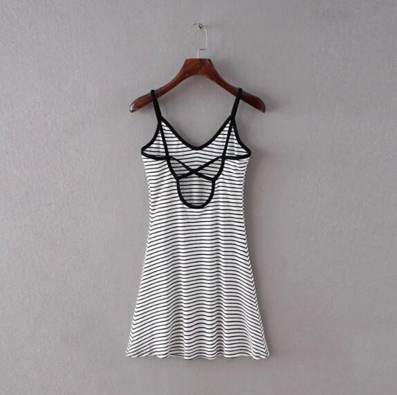 HTB1DHRoMpXXXXbbaXXXq6xXFXXXL - FREE SHIPING Sexy Backless Cross Strappy Halter Striped Dresses JKP278