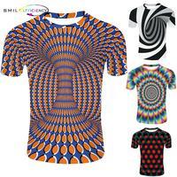 2019 новая модель психоделическая 3d футболка с коротким рукавом и круглым вырезом, футболки для мужчин и женщин, летние топы унисекс