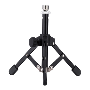 Image 2 - 4 Options Andoer MS 12 Mini Tripod for Microphone Mic Foldable Desktop Tabletop Tripod Microphone Mic Stand Holder High Quality