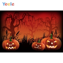 Yeele Halloween Party Photocall Pumpkin Lantern Tree Photography Backdrop Personalized Photographic Backgrounds For Photo Studio цена 2017