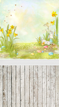 HUAYI photography backdrops baby backdrop photo prop background newborn yellow easter D-371