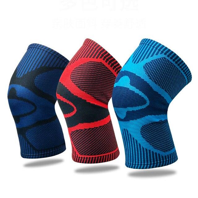 חדש 1 חתיכה ניילון אלסטי ספורט הברך רפידות אלסטי לנשימה הברך תמיכת סד ריצה כושר טיולים רכיבה על הברך מגן