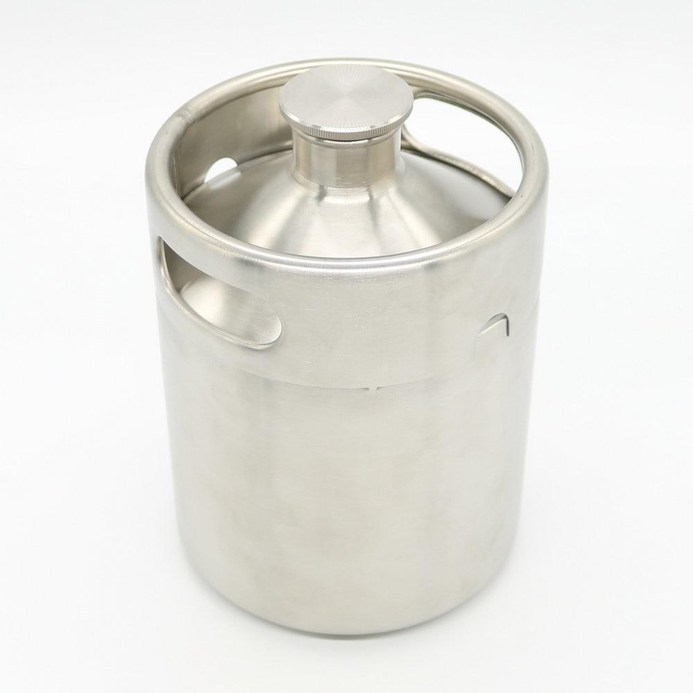 304 Stainless Steel 5 L Mini Keg Beer Growler Portable Beer Bottle ...