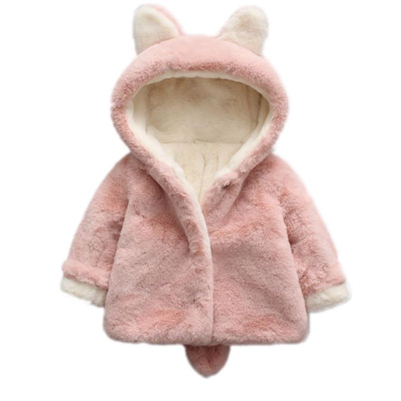 0973fcbe5 2018 New Faux Fur Fleece Kids Outwear Baby Infant Girl Fur Winter ...