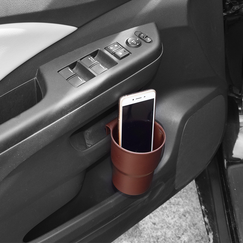 Universal Car Van Drink Cup Holder Stand Air Vent Mount Bottle Shelf Purple