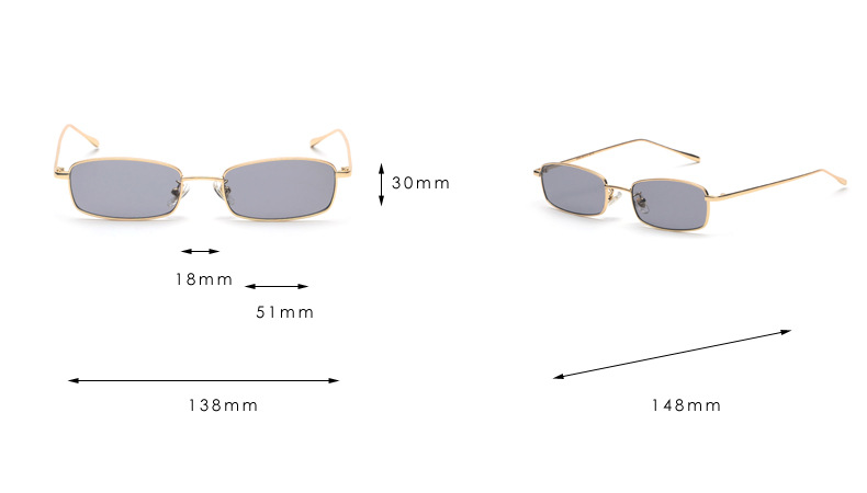 c6a9e380f2 YOOSKE 2018 Small Sunglasses Men Women Famous Brand Designer Metal Sun Glasses  Female Male Red Lens Glasses. 20180106 174657 010. 2 . 8