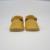 2016 Nuevo Diseño Amarillo Mostaza Mocasines Bebé Recién Nacido bebés de t-bar zapatos Franja Bebé suave Suela De Cuero