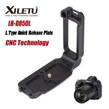XILETU LB D850L, profesional, tipo L, placa de liberación rápida, soporte de Carga rápida, empuñadura de mano para Nikon D850, cumple con el estándar suizo Arca