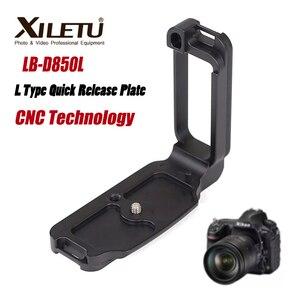 Image 1 - XILETU LB D850L professionnel L Type plaque de dégagement rapide support de chargement rapide poignée de main pour Nikon D850 répondre à la norme arca swiss