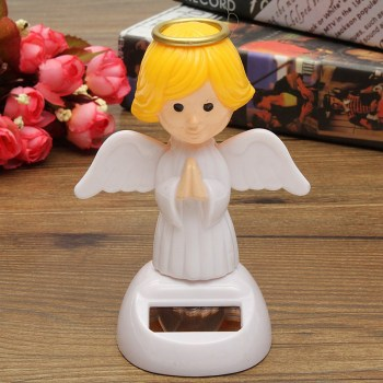 New Arrival Solar Toys Plastic ABS Dancing Fun Angel Flip Flap Powered Toys For Desk Home Ornaments Decor Toys 1