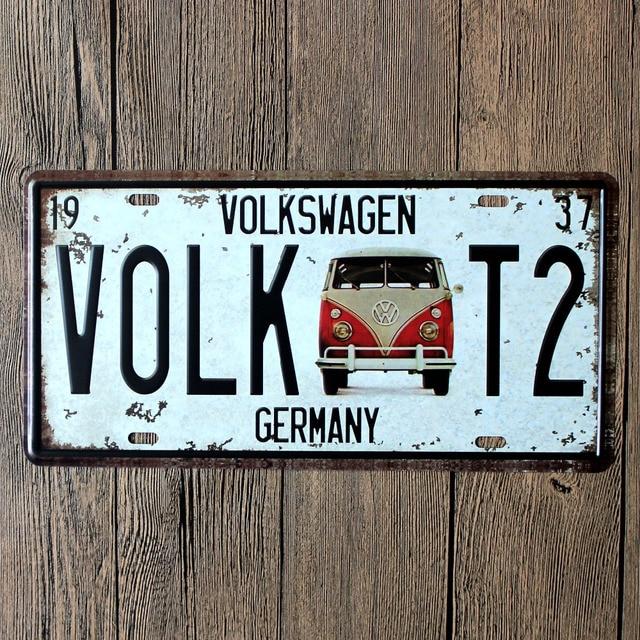 Retro Car Plate Licence Plates Garage Decoration Metal Board 30X15cm & Retro Car Plate Licence Plates Garage Decoration Metal Board 30X15cm ...