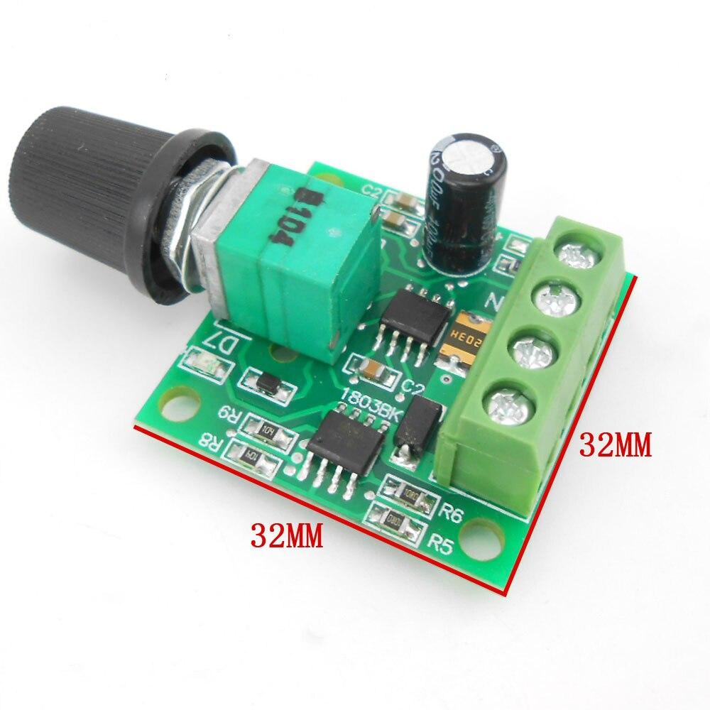 100PCS LOT Low Voltage DC 1 8V 3V 5V 6V 12V 2A Motor Speed Controller PWM